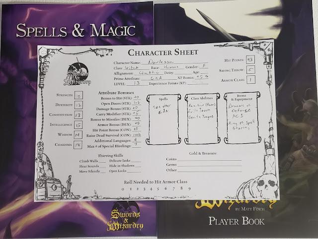 Darlessa, S&W character sheet