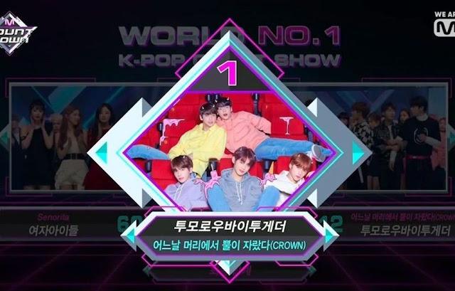 """TXT Raih Kemenangan Ke-2 Untuk Lagu """"Crown""""!"""