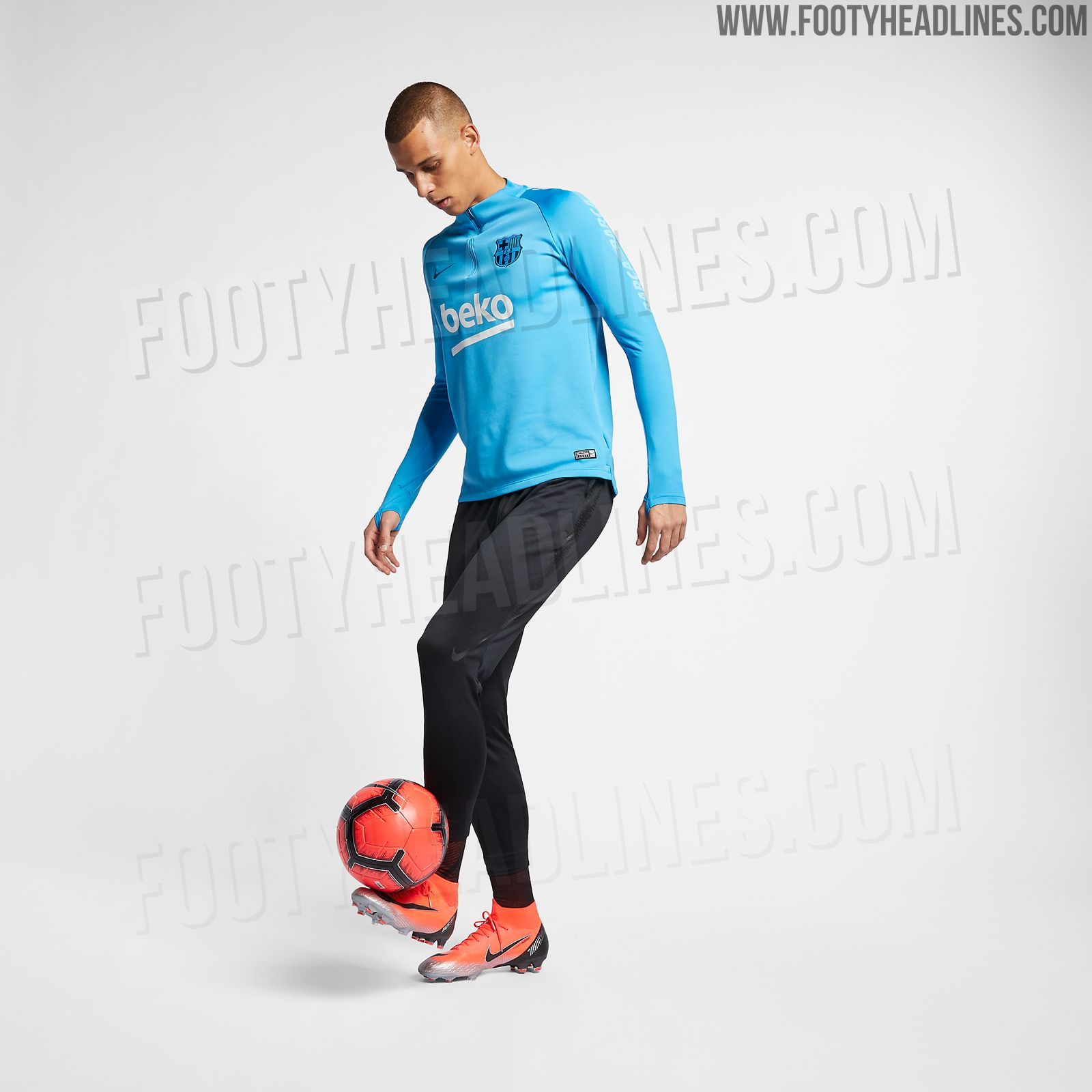 bce2af03c Nike will launch a new Barcelona training kit for the second half of the  upcoming season. It s light blue and will be released in January.