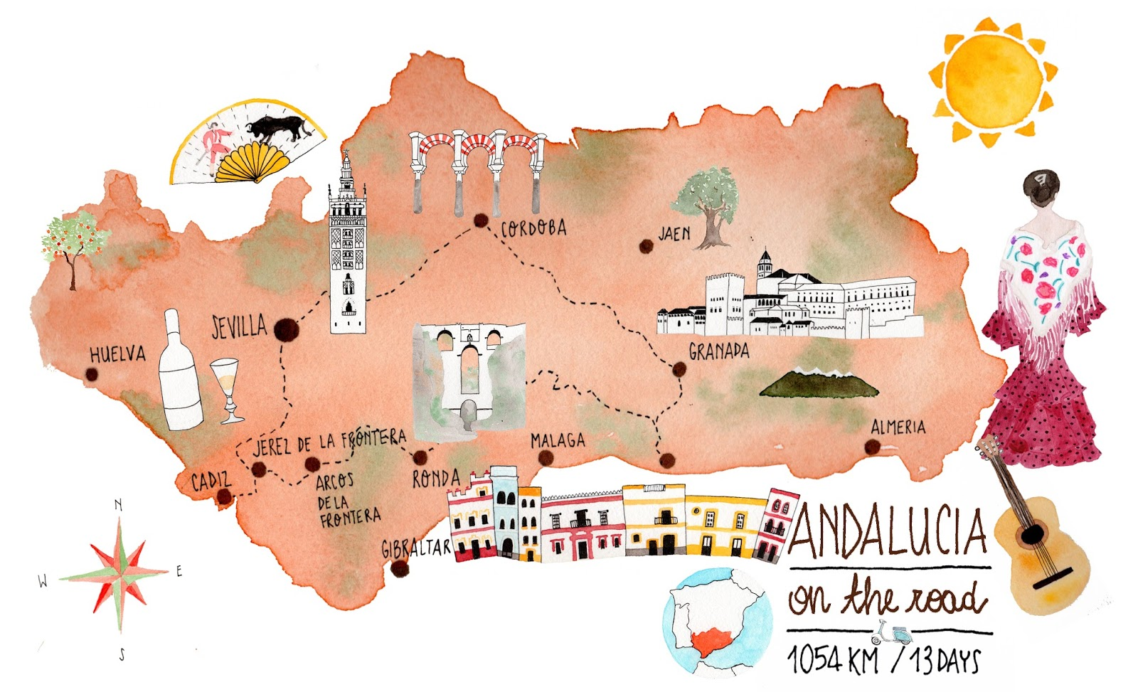 i diari della lambretta Andalucia on the road 13 days 1000 km 2