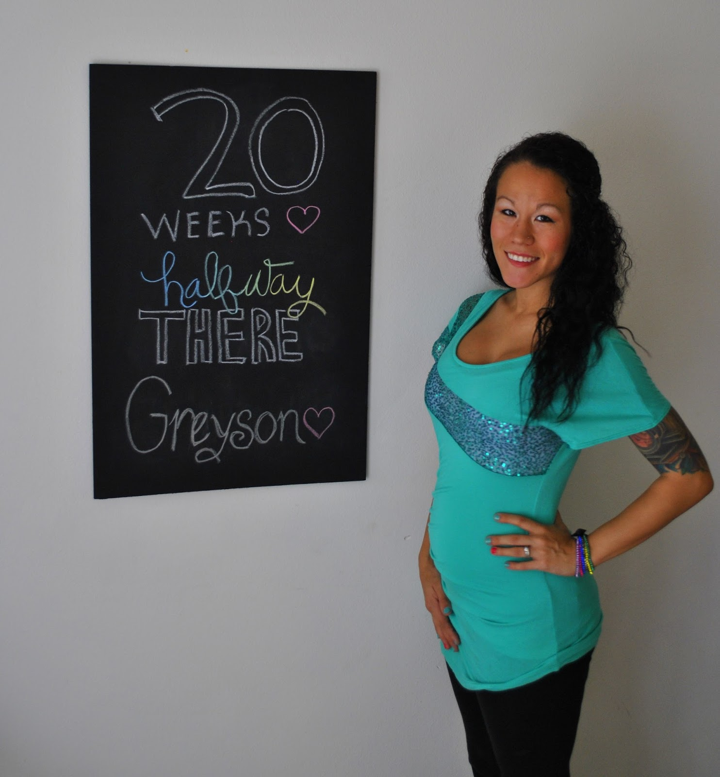 20 Weeks Pregnancy Chalkboard Update
