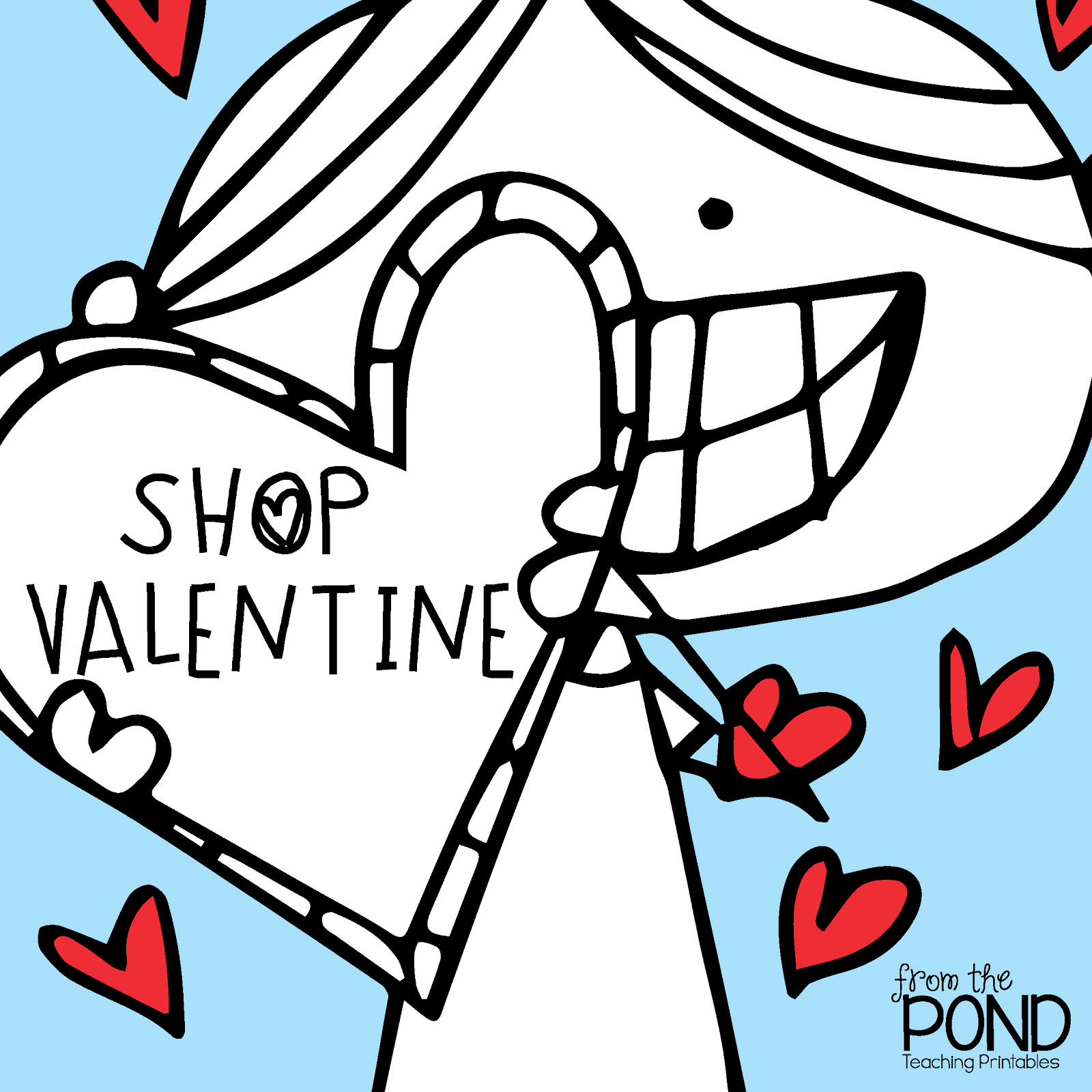 Frog Spot Free Scrappy Valentine S Day Coloring Page