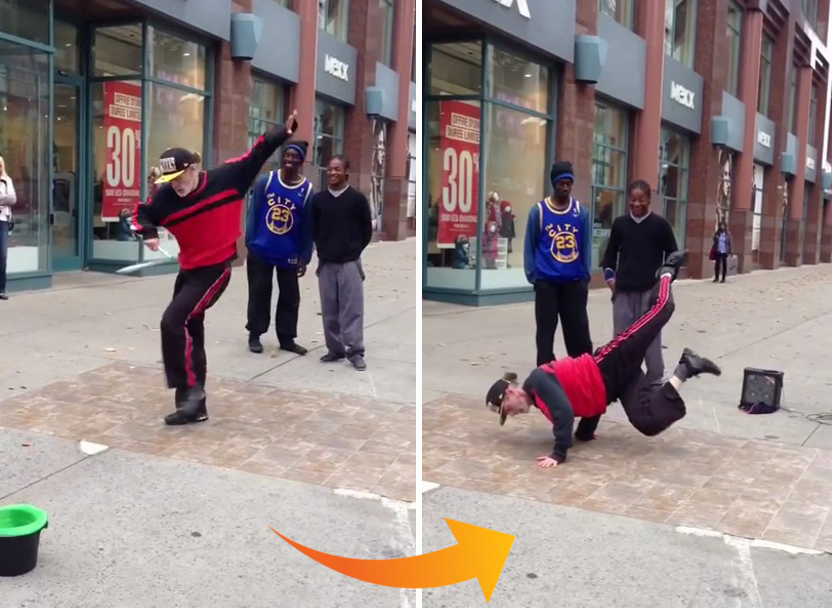 Viral video marketing - WTF old man breakdancing (60 years old)