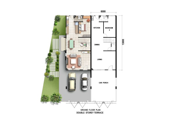 Permai Residence Ground Floor Plan