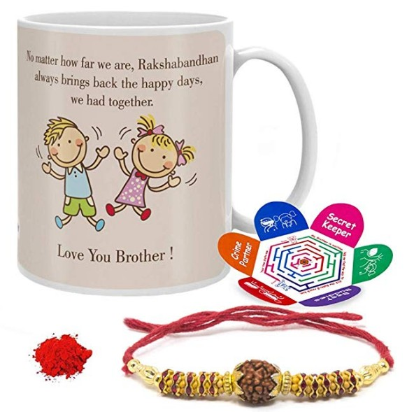 Rakshabandhan Mug With Rakhi - Rakhi Gift For Brother & Sister