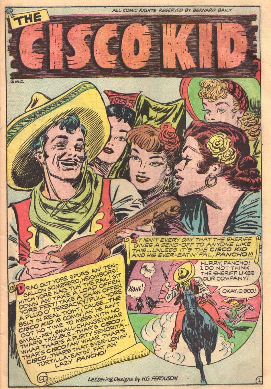 Old Fashioned Comics Cisco Kid Comics 01 Cisco Kid