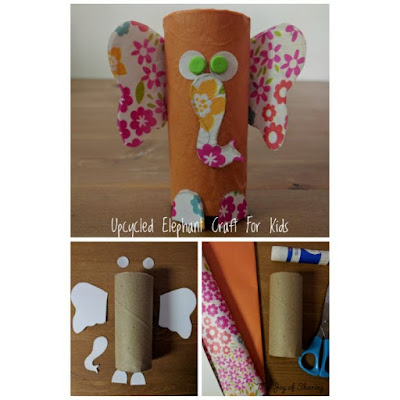 Paper roll Craft, Elephant Craft, upcycled craft, recycled craft, toilet roll craft, Kids Crafts, Easy Craft, fun craft