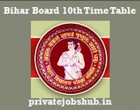 Bihar Board 10th Time Table
