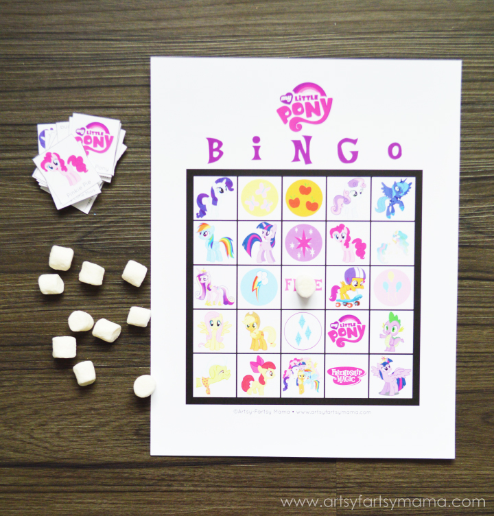 Free Printable My Little Pony Bingo at artsyfartsymama.com