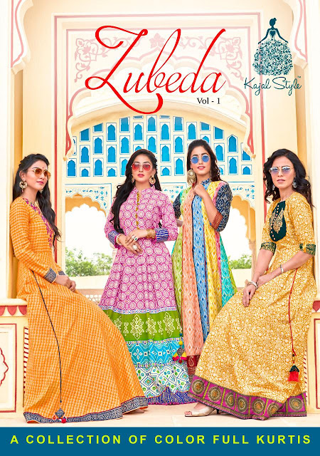 Kajal Style Zubeda vol 1 Party wear kurtis wholesaler