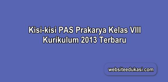 Kisi-kisi PAS Prakarya Kelas 8 K13 Tahun 2019/2020