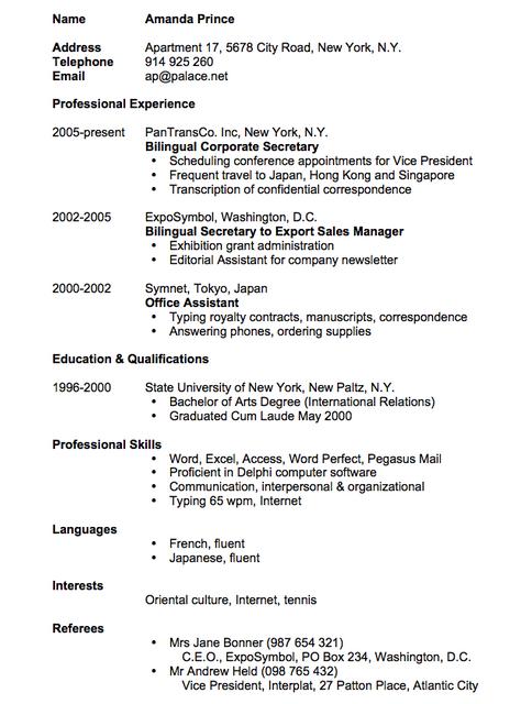 cara membuat resume dalam bahasa english resume english translation