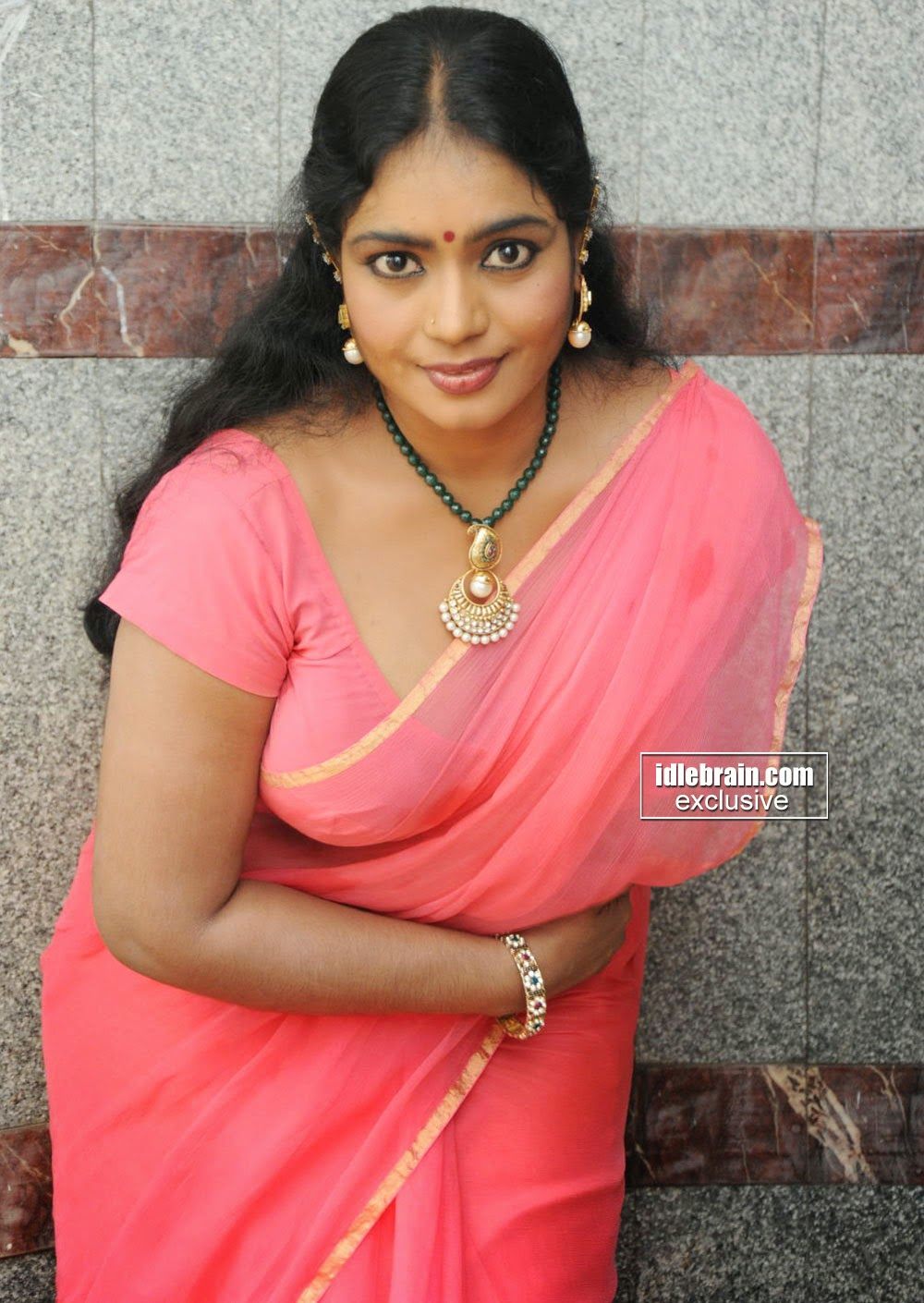 Indian Garam Masala Jayavani Hot Photos Gallery In Pink -9375