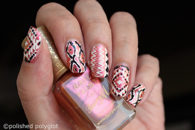 Nail art - Festival nails for 52WC -