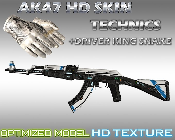 Skin AK 47 - Technics  King Snake (CS:GO) - HD para CS 1.6