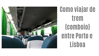 interior do trem em Portugal