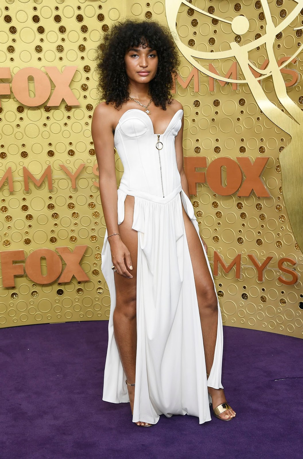 Pose Star Indya Moore Sizzles in a Risqué Gown at the 2019 Emmys
