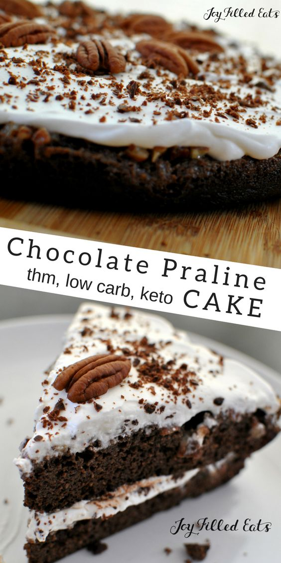 UPSIDE DOWN CHOCOLATE PRALINE CAKE – LOW CARB THM S