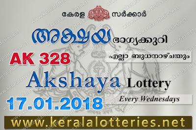 Kerala Lottery Results  17-Jan-2018 Akshaya AK-328 www.keralalotteries.net