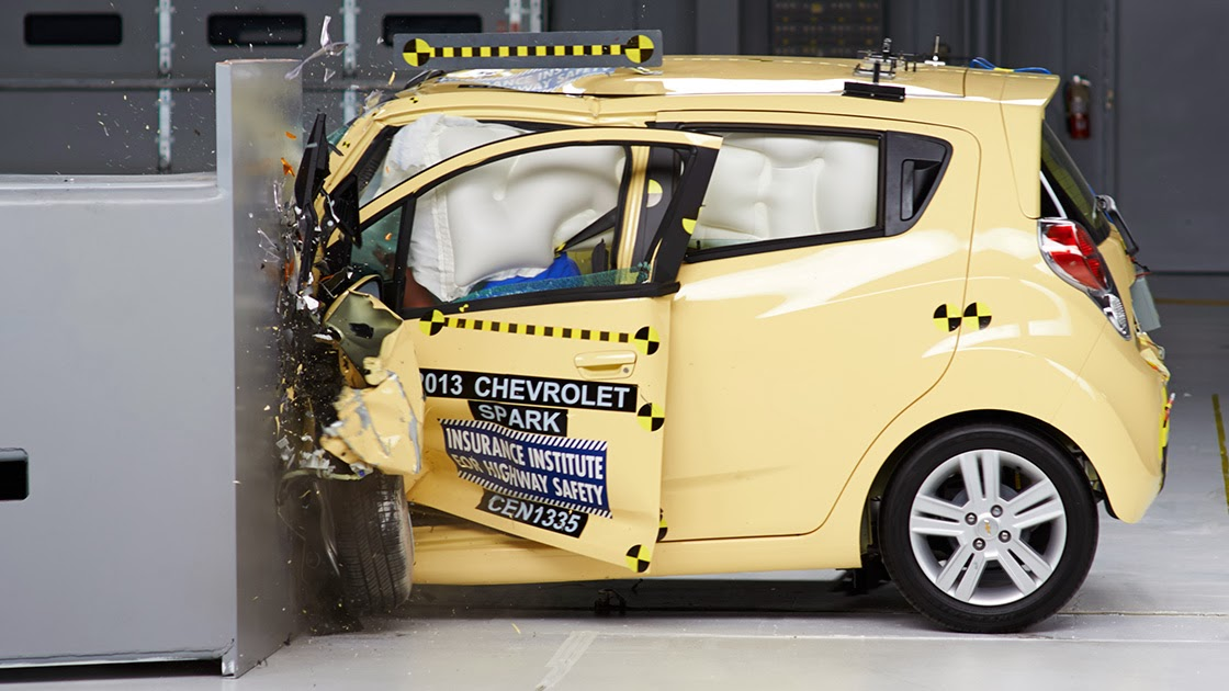 Chevrolet Spark in IIHS crash test