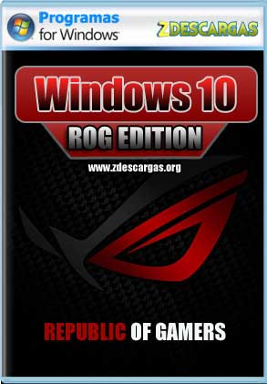 Windows 10 ROG Edition v4 (x64) Activado 2019 Full