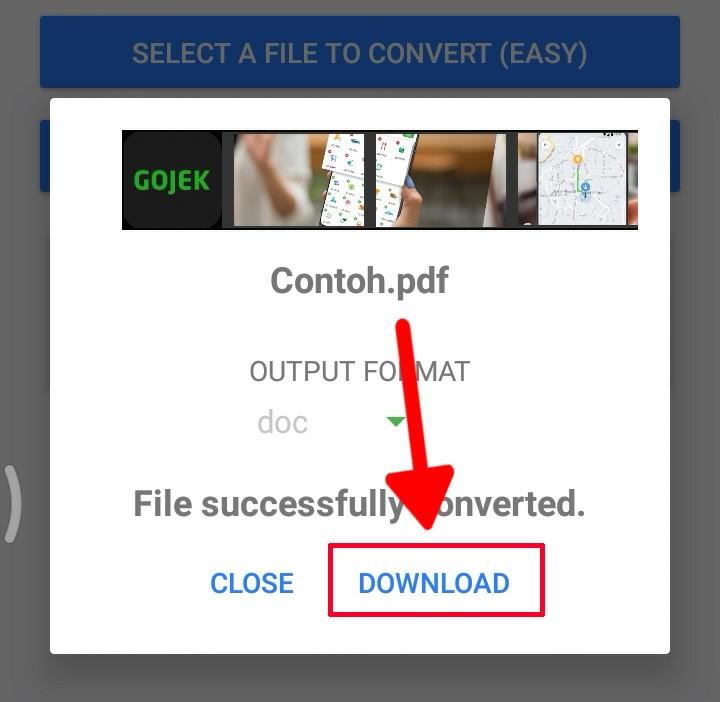 Cara mengubah dokumen PDF ke Microsoft word pada android 4