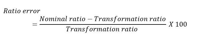 CT ratio angle error formula