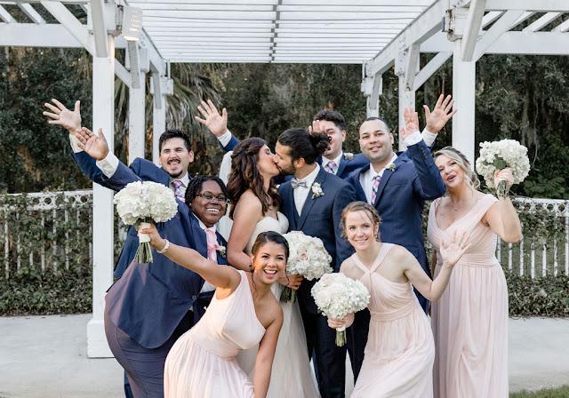 bride, groom and bridal party