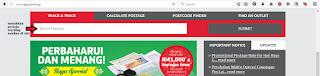 Semak tracking POSLaju Malaysia secara online di laman web POS Malaysia