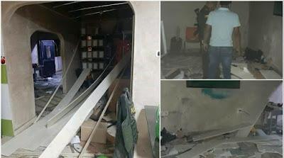 hoyennoticia.com, Lanzan explosivo contra Subestación de Policía de San Roque- Cesar