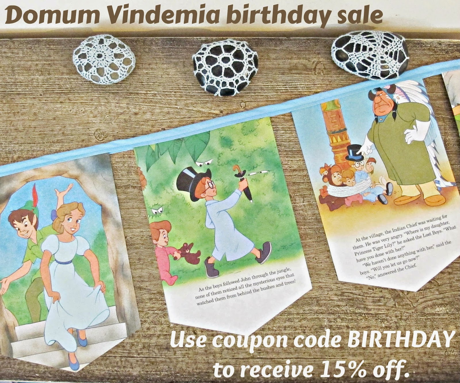 image domum vindemia birthday discount peter pan bunting