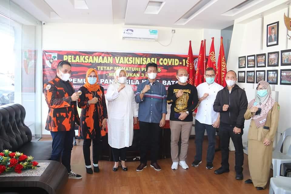 Rudi dan Marlin Tinjau Vaksinasi Anggota Ormas Pemuda Pancasila