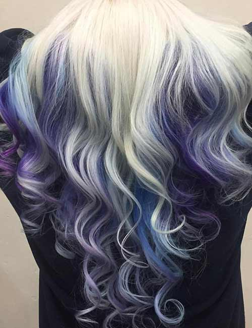 Mermaid Hair Color Idea - Platinum Peekaboo Mermaid