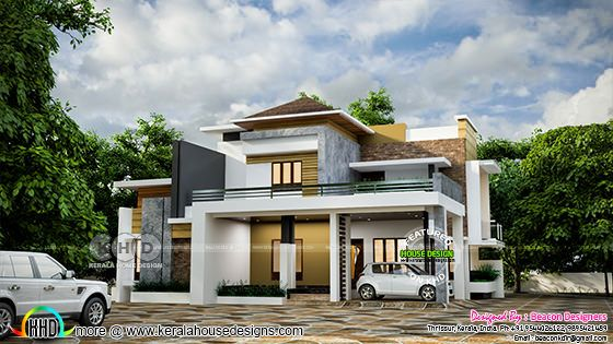 Mixed roof modern house design