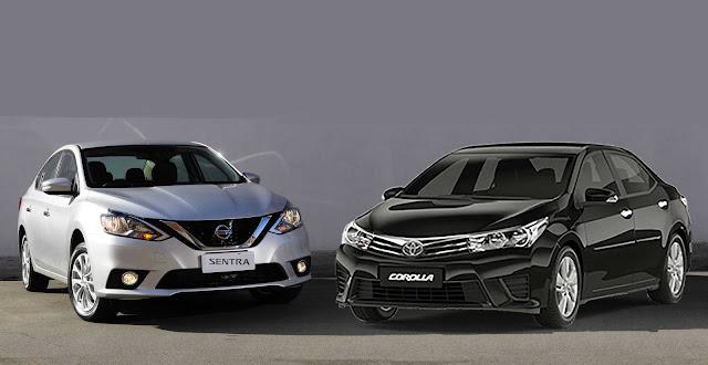 Nisssan Versa 2017 x Toyota Corolla 2017