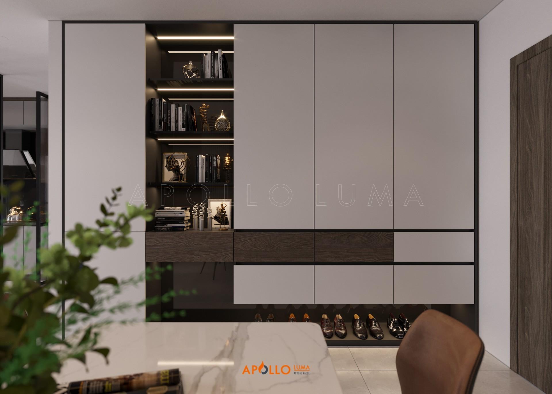 Thiết kế nội thất căn 3PN (80m2) Vinhomes Smart City Tây Mỗ