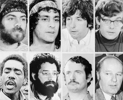The Chicago Seven were the political radicals who were accused of inciting riots at the Democratic Convention. The Seven included Abbie Hoffman, Jerry Rubin, David Dellinger, Tom Hayden, Rennie Davis, John Froines and Lee Weiner.