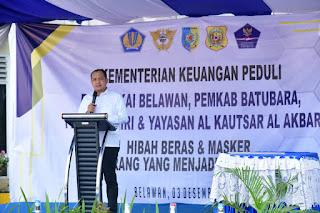 Bupati Batu Bara Hadiri Penyerahan Dan Press Release Beras Eks BMN