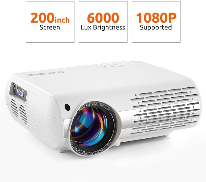 Video Projector, 6000 Lux Home Movie Projector