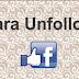 Unfollow facebook, Begini cara Unfollow seseorang facebook