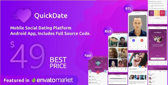 QuickDate Android v2.1 - Mobile Social Dating Platform Application