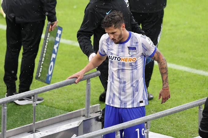 Jovetic desfalcará o Hertha Berlin por pelo menos duas semanas