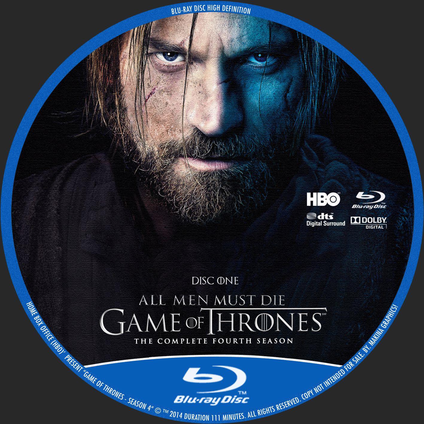 Label Bluray Game Of Thrones Quarta Temporada D1 a D4