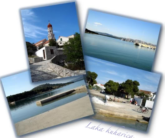 Vodice bez vode by Laka kuharica: Betina on the island Murter