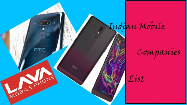 Indian mobile companies list