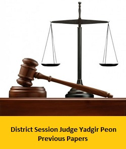 District Session Judge Yadgir Peon Previous Papers | Process