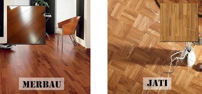 Jual lantai kayu jati dan merbau