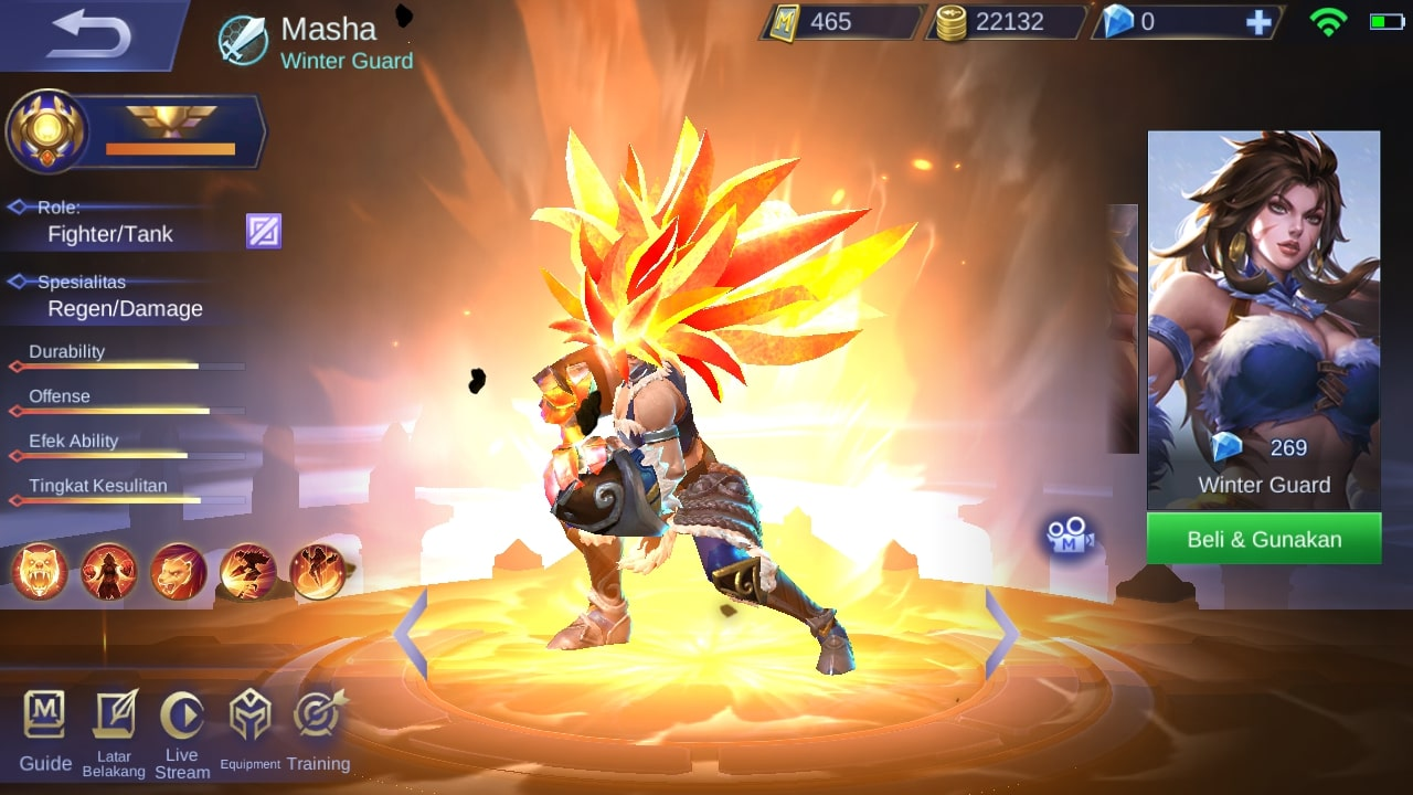 Full Detail Skill Hero OP Masha Mobile Legend