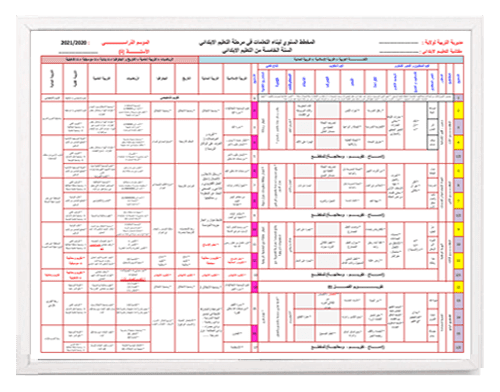 التوزيع السنوي الاستثنائي موافق لمخططات سبتمبر 2020 للخامسة ابتدائي