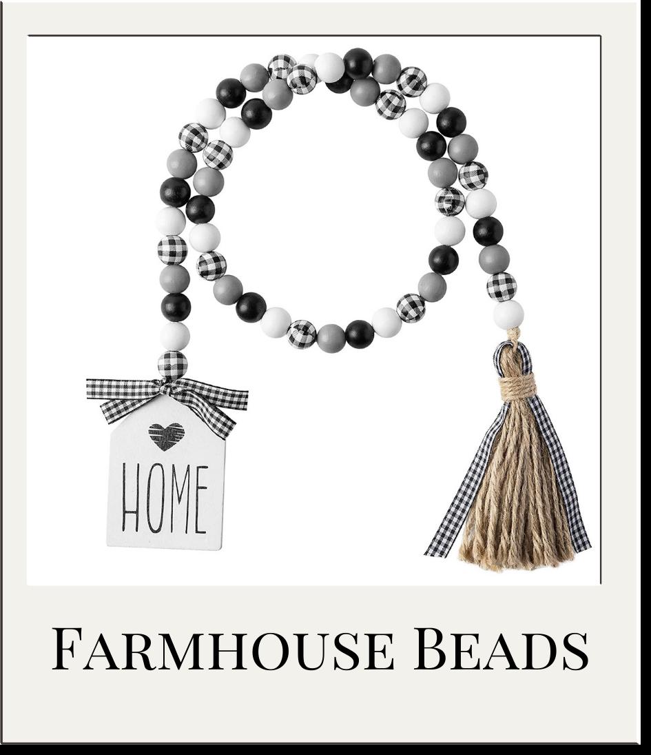Farmhouse Style Wood Beads